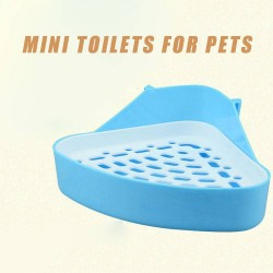 Discount triangle toilet toilet small pet chinchillas hamsters Universal grid pet toilet to clean toilets