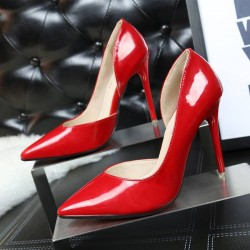 1132-3 fashion style in Europe and the US market contracted fine with high-heeled pointed dew instep side engrave sexy slim OL career high heels