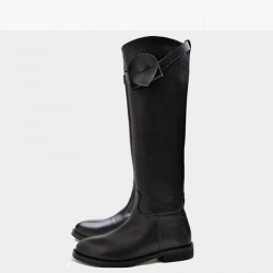 Low price new style hot selling spring and winter lady boots leather flat low to help fashion leisure long boots to help low