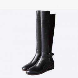 Discount new autumn and winter styles in leather boots with long-barreled Ms. quality fashion long style internal high-heeled over knee boots Martin