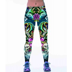 Creative hand-painted 3D digital printing all outdoor sports match tight elastic casual pants fitness