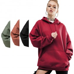 Classic Women's Hoodie Sweetshirts Pullover Tops with Kangaroo Pocket