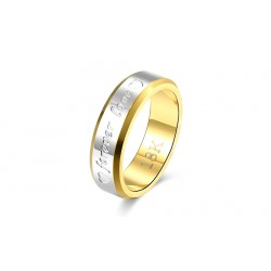 18K Men's Double Gold Ring for Anniversary