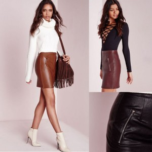 European market and the US market multi-colored velvet comfort pu material package hip skirt skirts fall and winter selling fast