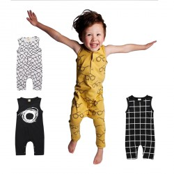 Baby Boys Sleeveless Romper Jumpsuit Playsuit Bodysuit Outfits Clothes