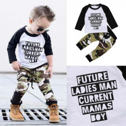 Baby Boy Camouflage Kleidung Sets