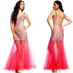 Custom low price of high-end high-end hand-tailored dress beautiful prom dress banquet hosted