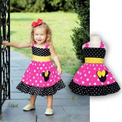 Girls Minnie dot halter dress pattern dress fast shipping low price hot sales children's clothing