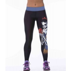 European market and the American market hot selling low price high quality digital printing zombie Snow pants super elastic yoga leggings