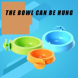Hanging single food bowl can be fixed pet food pet drinking green plastic utensils