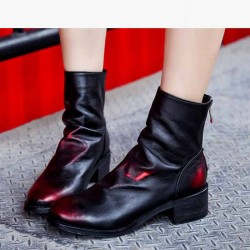 European market and the US market luxury leather Ms. boots winter fashion new style flat boots Miss Ma Dingxue all matching shoes