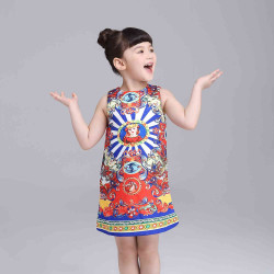 Fast delivery in Europe and the US market, international brands, Ms. Wang painted stripe vest skirt picture female Tong Tong Summer Dress