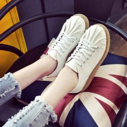 Autumn new style British style round shell head flat with low-heeled lace low to help casual student Ms. heels