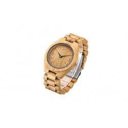 Bamboo Wood Brown Rock Automatic Men's Watch